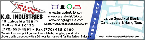 We print price stickers with barcodes or hang-tags. We also print on woven ribbon fabric and nonwoven washable paper. Specialize in short run variable data services.