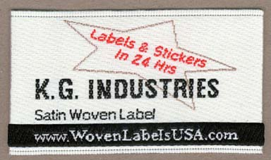 Satin woven label.